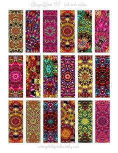 Digital Collage Sheet Instant Download by OrangeKittyStudio, $2.00  1x3-inch microslides for pendants, art, crafts