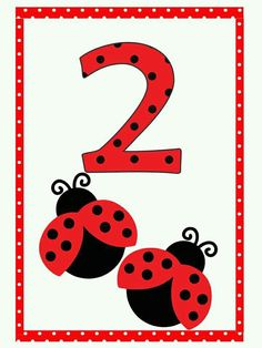 Number Flashcards, Flashcards For Kids, Kids Math Worksheets, 1st Grade Worksheets, Numbers Preschool, Preschool Math, Motor Skills Activities, Preschool Activities, Baby Ladybug