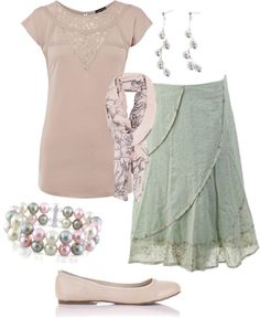 """""""Casual Saturday"""" by tssalmon on Polyvore (love the skirt)"""