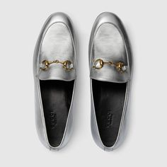 Gucci Women - Gucci Jordaan Metallic Silver Loafers - $670.00