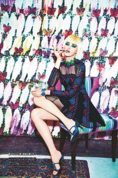 Publication: Numéro Tokyo #75 April 2014 Model: Vlada Roslyakova Photographer: Ellen Von Unwerth