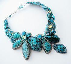 Amazing bead embroidered jewelry by Guzel Bakeeva | Beads Magic