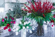 Multiple flower arrangements add a beautiful, natural touch to the home, especially for the holidays. #pallensmith #holidaydecor For tips on how to decorate using flowers, TV host P. Allen Smith has you covered: https://www.stargazerbarn.com/blog/holiday-flower-decorating-tips-p-allen-smith