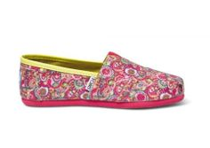 TOMS Paisley Glitter Youth Classics - BK's Brand Name Clothing