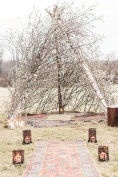 Autumn wedding ceremony decoration ideas   i take you