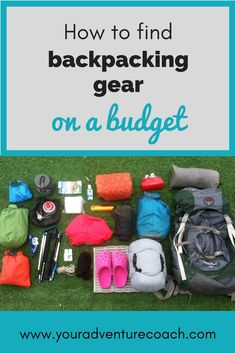 Find out my go-to stores and websites to find cheap or inexpensive backpacking gear. Also learn how to take care of and repair your hiking and backpacking gear to save money in the long run.