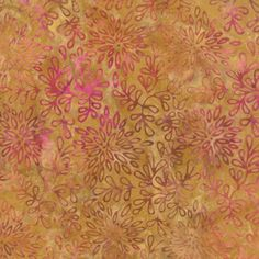 Sale! > Moda Batiks < De la Sol Golden Sand 4337 47 > Fabric by the Yard < Gold Purple Pink Leaves Batik Fabric by MaximizeYourFabric on Etsy