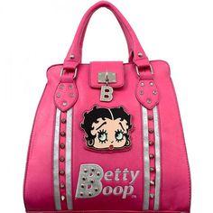 Official Betty Boop® 'B' Studded Handbag – Handbag Addict.com
