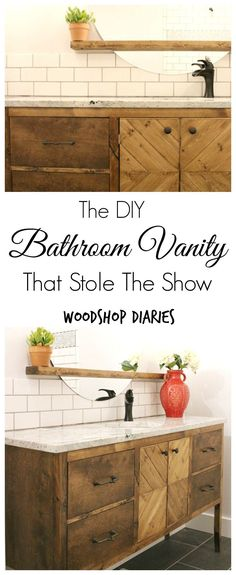 simple sink console build a pottery barn bathroom vanity for way way less with my own two hands pinterest pottery barn bathroom barn bathroom and