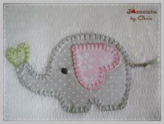 pano de boca elefantinho | by Joanninha by Chris