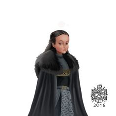 "darlenealdersons: "" Lyanna Mormont by Raymond Waskita "" Valar Morghulis, Lyanna Mormont, House Stark, Game Of Thrones Fans, Allegiant, Red Wedding, Sons, Vogue, Hobbies"