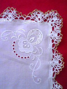 Handkerchief handmade crochet  lace. Bride by sincreartDesign
