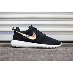 Custom Emojis Nike Roshe Run Shoes Fabric Design Hand Made... ($160) ❤ liked on Polyvore featuring shoes, foot wear, nike shoes, nike footwear and nike