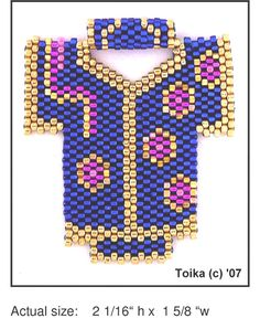 Kimono 4 Beaded Pendant Pattern | Bead-Patterns.com