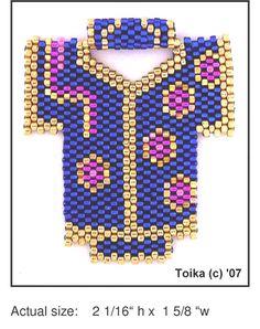 Kimono 4 Beaded Pendant Pattern   Bead-Patterns.com