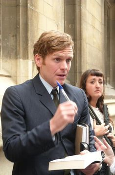 Shaun arriving for #Endeavour filming series 3 at Exeter College Wednesday, July 29, 2015.