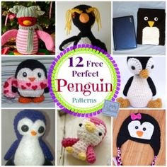 12 Free Perfect Penguin #Crochet Patterns compiled by @SCCelinaLane Simply Collectible | STOP searching and START making.