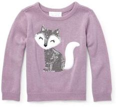 b0d3697574 Children s Place The Baby And Toddler Girls Long Sleeve Sequin Graphic Icon  Sweater