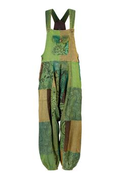 Wicked Dragon Clothing - Patchwork harem dungarees up to PLUS size
