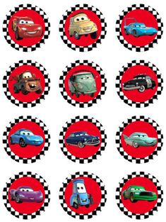 Super Ideas For Cars Birthday Party Cake Mcqueen Cupcake Toppers Disney Cars Cupcakes, Disney Cars Party, Disney Cars Birthday, Cars Birthday Parties, Birthday Party Favors, Boy Birthday, Birthday Gifts, Cake Birthday, Cars Theme Cake