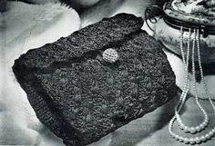 Bag No. 2796 | Free Crochet Patterns.  Free vintage crochet purse pattern.  Pretty
