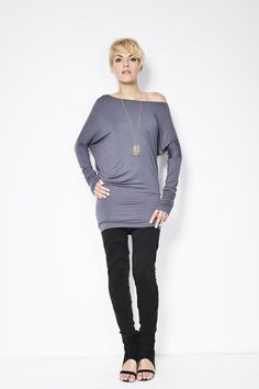 Asymmetric Oversized  Party Blouse / Tunic / by marcellamoda - MB035