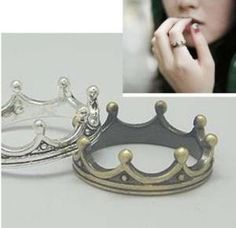 crown ring one size  by youmademyday on Etsy, $4.99