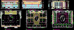 Engineering et Architecture: Plan Galerie - centre commercial en dwg Commercial Complex, Centre Commercial, Commercial Architecture, Architecture Plan, Christmas Decorations To Make, Christmas Diy, Bloc Autocad, Commercial Building Plans, Boho Dekor
