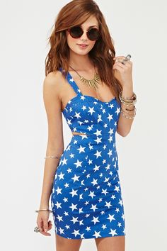 Starry Bustier Dress - Forth of July :)))