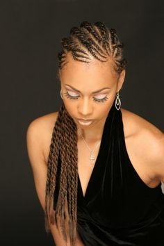 beautiful flat twists hairstyle for black women
