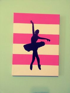 DIY silhouette canvas art. Perhaps with a ballroom silhouette