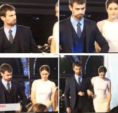 Shailene Woodley & Theo James attend the Insurgent World Premiere on March 11, 2015