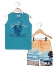 Conjunto masculino bermuda e camiseta regata - Brandili 6000d44f770