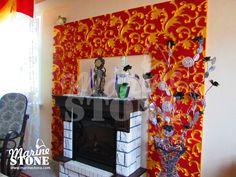 """Мастерская MarineStone - Гостиная с отделкой стены Панелями 3D (рельефными панелями) из гипса вида """"Паттерн"""" (""""узор""""). Панели окрашены акриловыми красками. Decor, Frame, Home, Stone, Home Decor"""