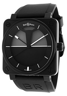 Bell & Ross Men's BR 01 Horizon Automatic Black Rubber and Dial