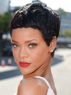 Rihanna  The R&B star is back to sporting longer tresses, but when she cropped it all off last year, Rihanna proved that short is sexy — and fierce. Keep in mind, though, that while short hair requires less day-to-day maintenance, you'll need frequent trims to maintain the shape.
