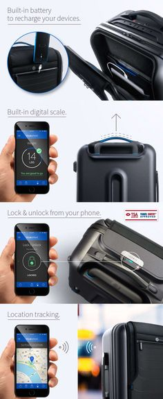 A carry-on suitcase that you can control from your phone ('like a boss'). It basically does everything but carry itself. Someday... someday.