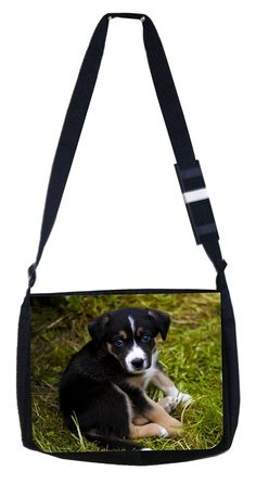 Sad puppy Rosie Parker Inc. TM Medium Sized Messenger Bag 11.75' x 15.5' and 4.5' x 8.5' Pencil Case SET *** Click image for more details. (This is an Amazon Affiliate link and I receive a commission for the sales)