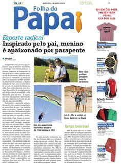 Dia dos pais (e filhos) voadores  Carlos e Caio Buzarello são pai e filho pilotos de parapente - uma reportagem no Jornal Folha SC conta como isto funciona.  #solparagliders #flywear #youcanfly #vocepodevoar