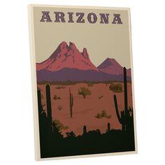Steve Thomas 'Arizona' Gallery Wrapped Canvas Wall Art