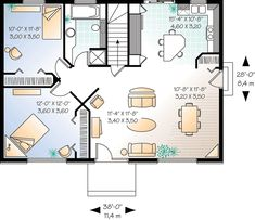 Simple house plans - 3 Bedrooms, 2 Bathrooms. Description from pinterest.com. I searched for this on bing.com/images