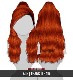 Coupure Electrique: AdeDarma`s Thank U hair retextured - kids and toddlers version - Sims 4 Hairs - Sims 4 Cc Kids Clothing, Sims 4 Mods Clothes, Sims 4 Game Mods, Sims Mods, Sims 4 Cas, Sims Cc, Toddler Hair Sims 4, Toddler Girls, The Sims 4 Bebes