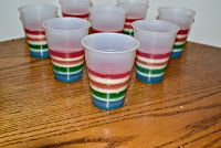 Rainbow Jell-O Cups - Hezzi-D's Books and Cooks
