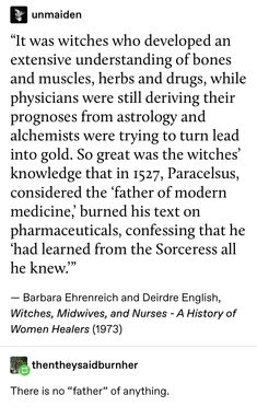 r/WitchesVsPatriarchy is a woman-centered sub with a witchy twist, aimed at healing, supporting, and uplifting one another through humor and. The More You Know, Good To Know, Patriarchy, Interesting History, Faith In Humanity, Women In History, History Facts, Witchcraft, Intersectional Feminism