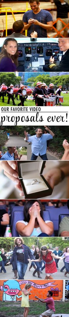 Beautiful displays of creativity and love like I've never seen.  Proposals at their finest!  If these proposals are any testament to the commitment they will show their wives after being married, they will live happily ever after.  <3