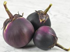 This drop-dead gorgeous Japanese sort is delicious, too! Very thin skin is non-glossy dark purple to nearly black. Fruits are round, and frequently exceed a pound in weight. Tolerates cooler conditions than many eggplant varieties. Planting Vegetables, Fruits And Vegetables, Vegetable Garden, Eggplant Varieties, Next Garden, Seeds Online, Rare Flowers, Garden Seeds, Edible Garden