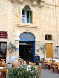Valletta Waterfront, a paradise of pubs and restaurants on the edge of the Grand Harbour, Malta Beautiful Islands, Beautiful Places, Malta Food, Malta Beaches, Outside Seating, Malta Island, Beautiful Sunrise, Al Fresco Dining, Places Of Interest