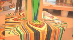 """Holton Rower is a man of fine art! Using gravity as a tool, Holton created his """"Tall Painting"""" New York art piece by pouring paint down some wooden structure for hours. Antony Gormley, Drip Painting, Painting Tips, Art Plastique, Art Activities, Art Techniques, Artist At Work, Oeuvre D'art, Art Lessons"""