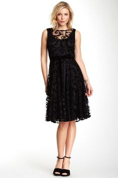 Isaac Mizrahi Sleeveless Applique Dress on HauteLook