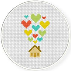 FREE for August 16th 2015 Only - Heart Home Cross Stitch Pattern
